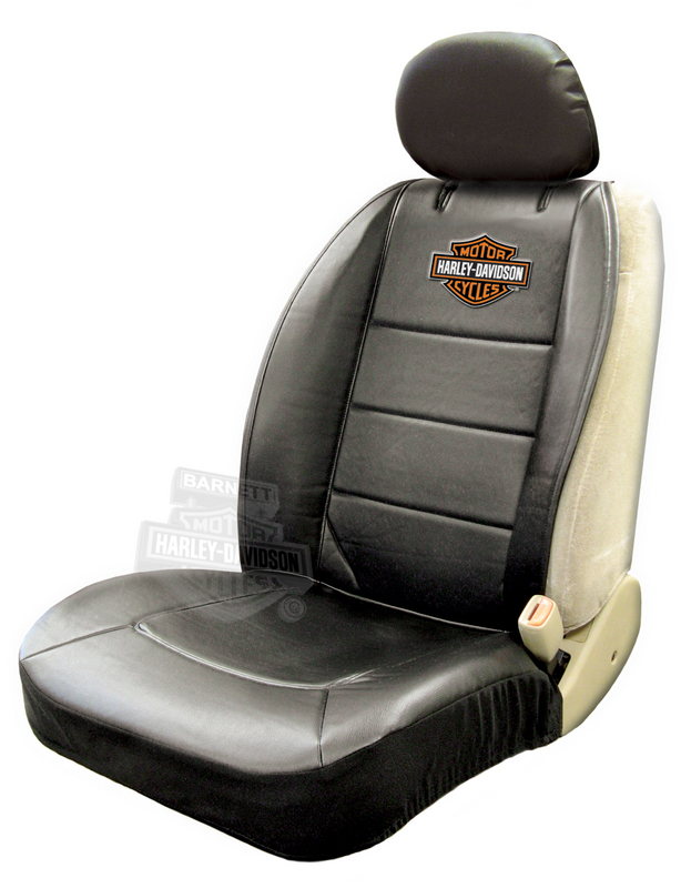 Harley-Davidson® Seat Cover Sideless Black With Orange B&S - Single
