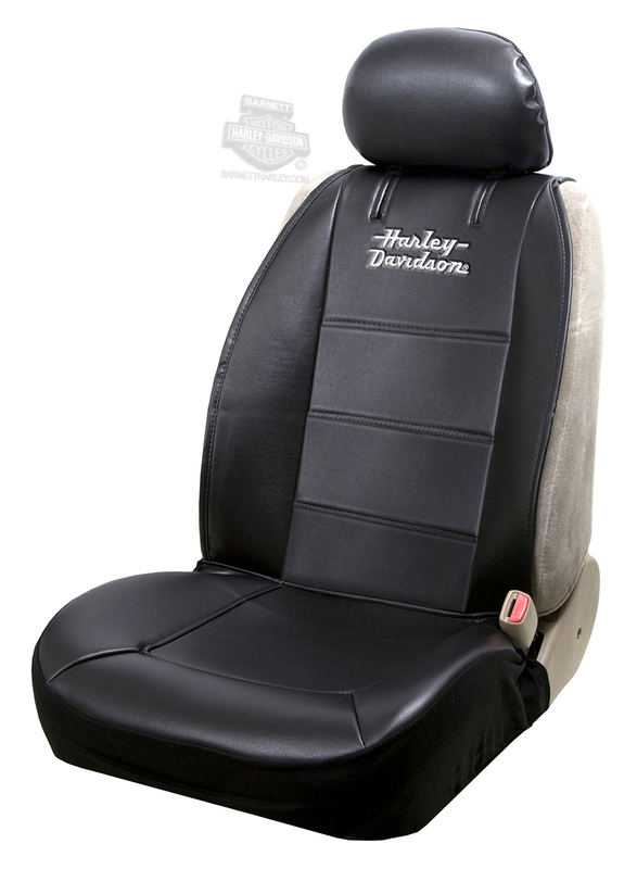 Harley-Davidson® Black H-D Stacked Name Sideless Seat Cover
