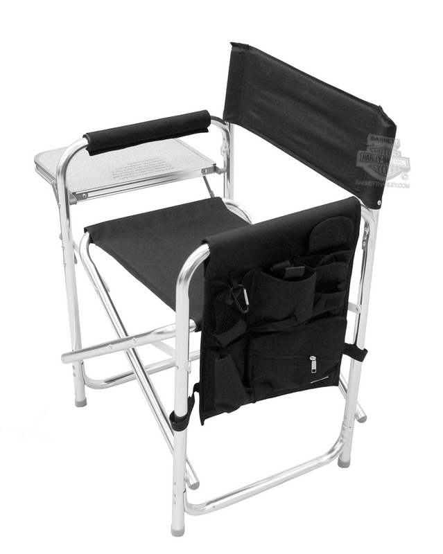 Harley-Davidson® B&S Logo Collapsible Black Sports Chair
