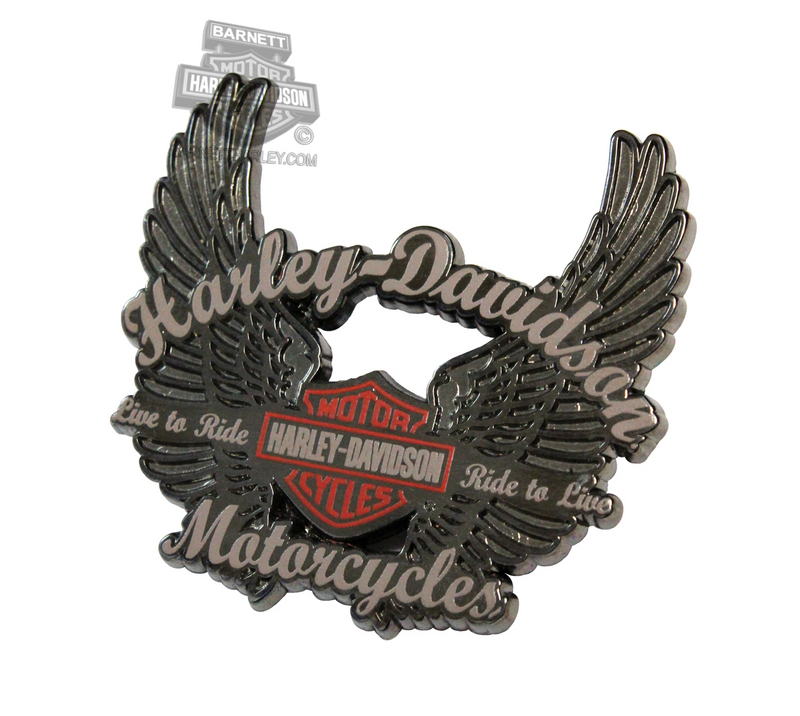 Harley-Davidson® Ride to Live Wings with B&S Pin
