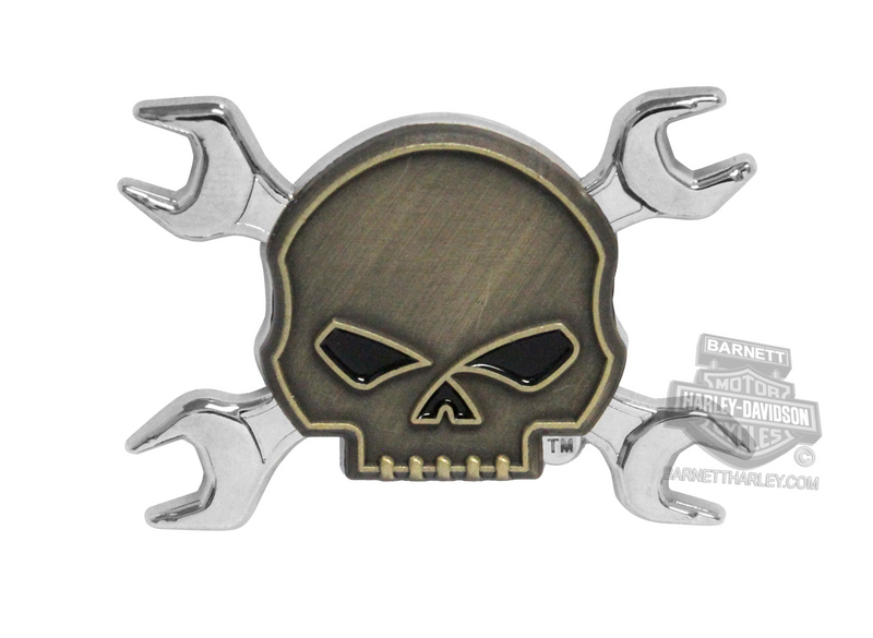 Harley-Davidson® Wrench Willie G Skull Crossbones Pin