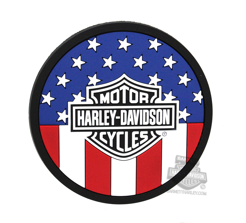 Harley-Davidson® Americana Flag with B&S Coaster Set