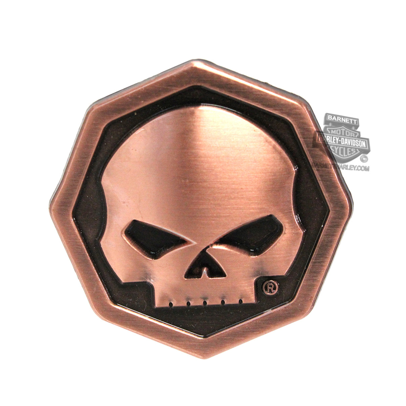 Harley-Davidson® Willie G Skull Octagon 3D Pin