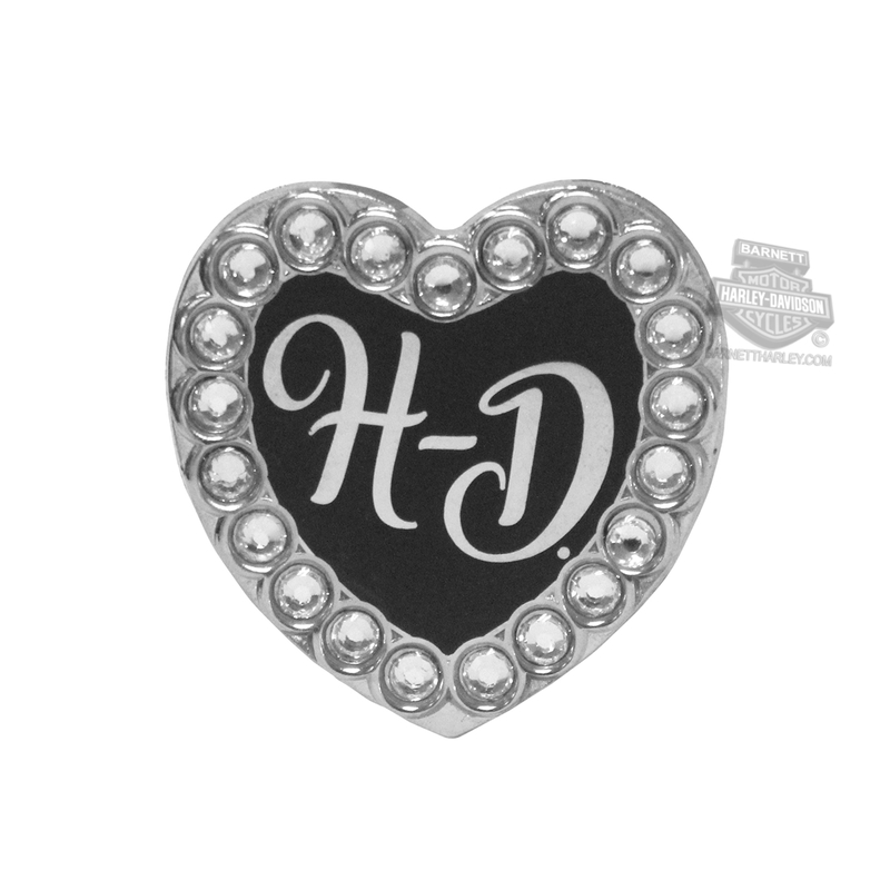 Harley-Davidson® Womens H-D Heart with Rhinestones Pin