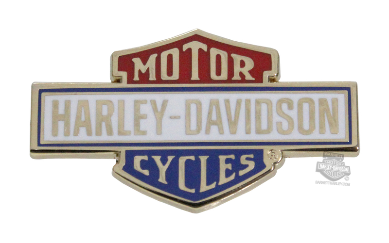 Harley-Davidson® Retro B&S Red, White & Blue Pin