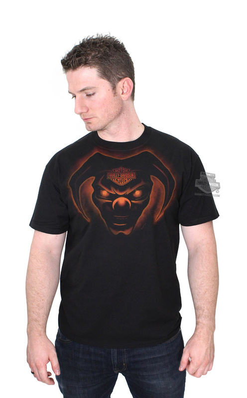 Harley-Davidson® Mens Evil One Jester with B&S Black Short Sleeve T-Shirt