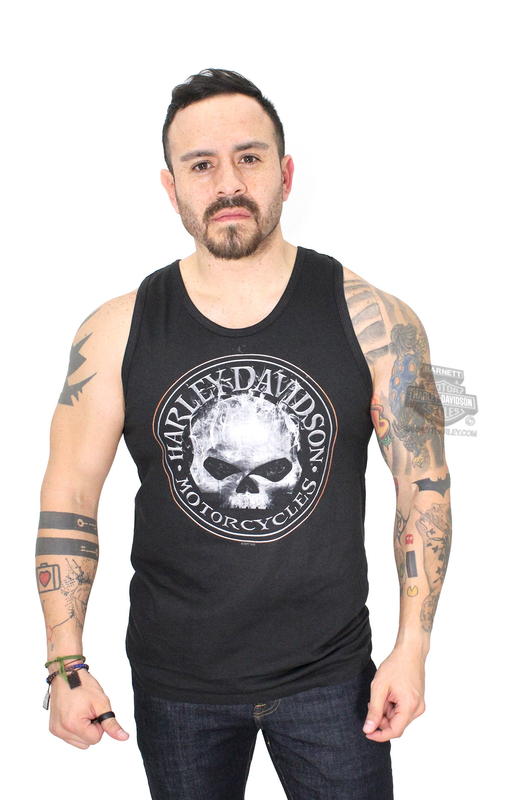 Harley-Davidson® Mens Smokey G Willie G Skull Black Sleeveless Tank