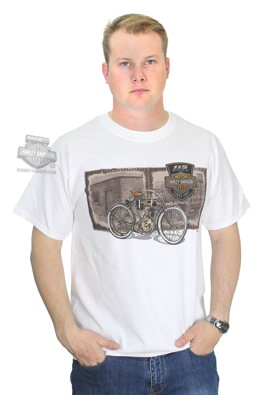 ** BIG SIZES ONLY ** Harley-Davidson® Mens 115th Anniversary Film White Short Sleeve T-Shirt