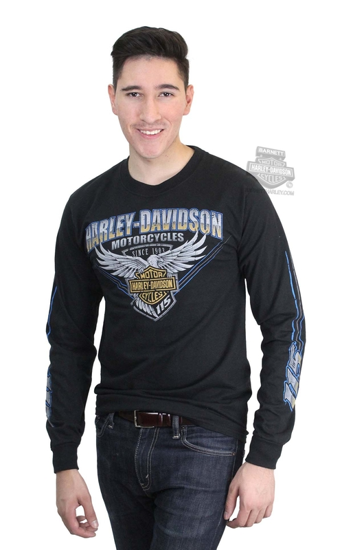 efcf9e8b5eaf Barnett Harley-Davidson Clothing and Apparel - Barnett Mens Long ...