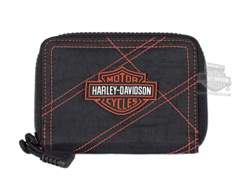 Harley-Davidson® Womens B&S Logo Rally 3-in-1 Waistpack Black Nylon Bag