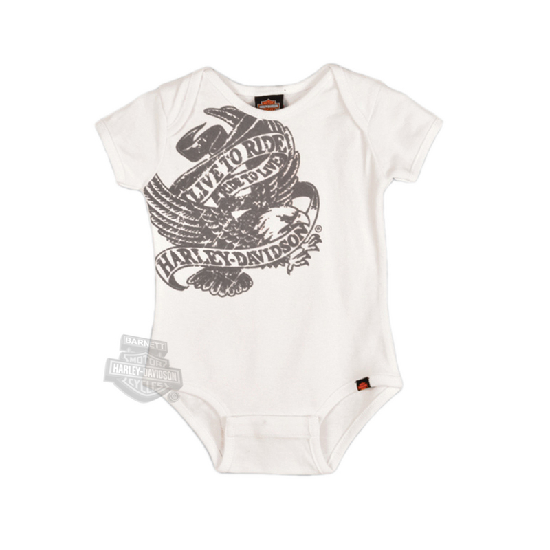 Harley-Davidson® Baby Creeper White Live To Ride Eagle