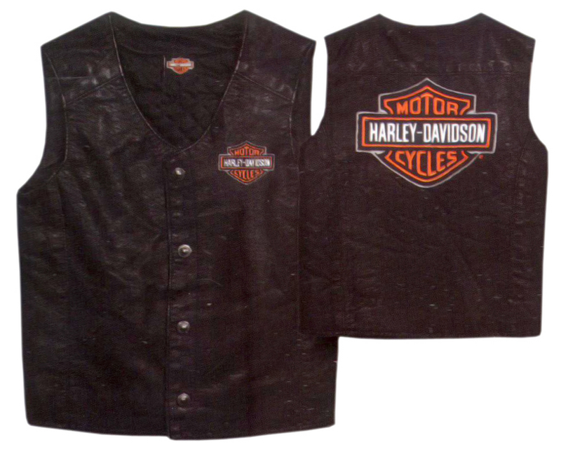 Harley-Davidson® Boys Youth PU Pleather Biker Vest Black