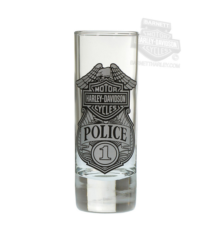 Harley-Davidson® Police Original Tall 2.5 oz Clear Shotglass