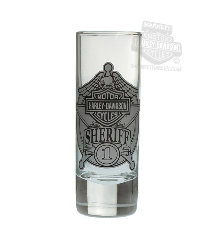 Harley-Davidson® Sheriff Original Tall Clear Shotglass