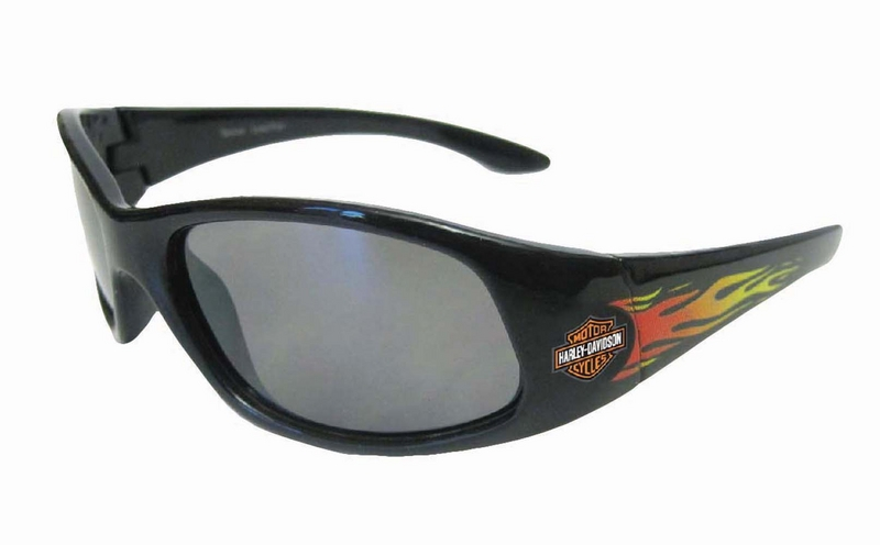 Harley-Davidson® Boys Youth Sunglasses Black with Orange B&S with Flames