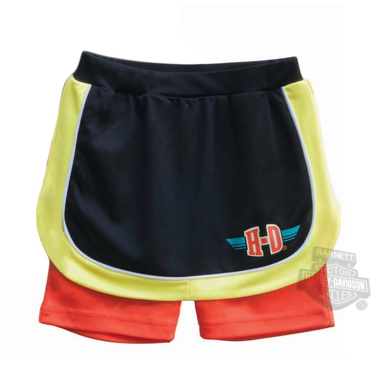** 2 for $5 ** Harley-Davidson® Girls Youth Interlock Tech Performance Black Skort