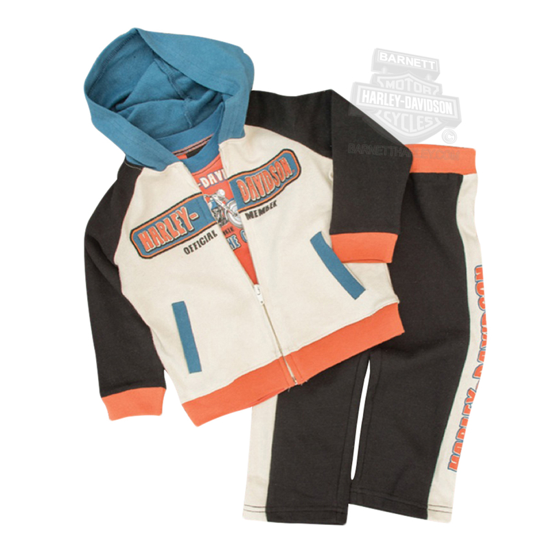 Harley-Davidson® Boys Baby Motorcycle 3pc French Terry Jog Set