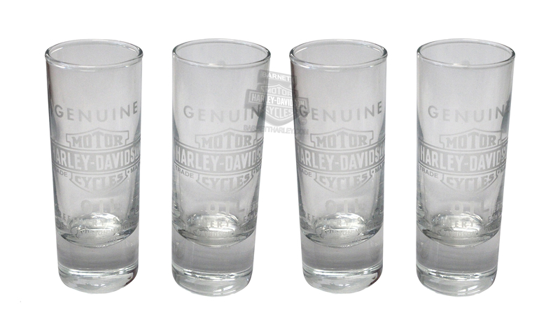 Harley-Davidson® Genuine Oil Tall 2.5 oz Set of Four Clear Shotglass Set