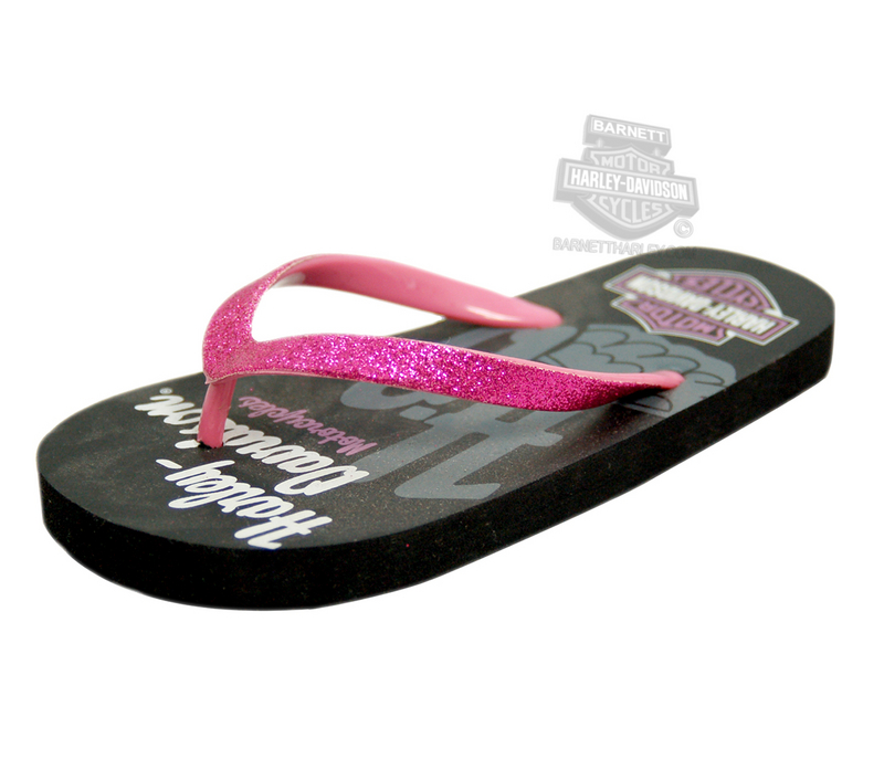 Harley-Davidson® Girls Youth Wing Flip Flops