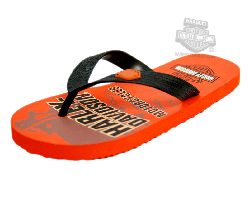 Harley-Davidson® Boys Youth Motorcycle Flip Flops