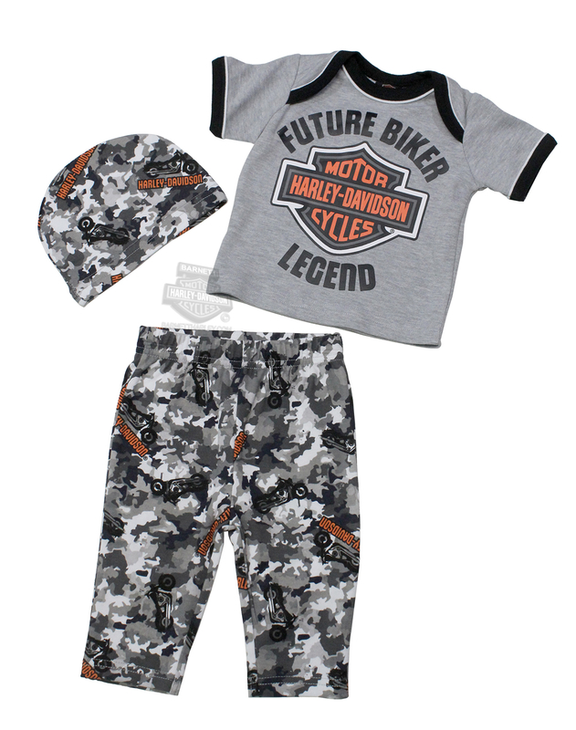 d4add44646 Harley-Davidson® Boys Baby B&S Logo 3pc with Gift Bag Hanging Gift Set