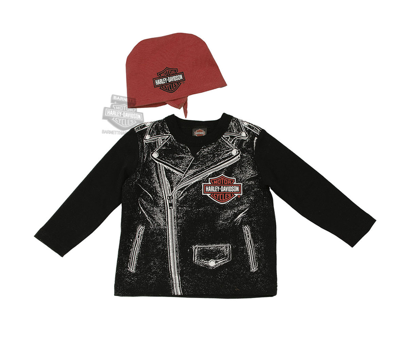 Harley-Davidson® Boys Baby Biker Dude Tee & Do Rag Starter Set