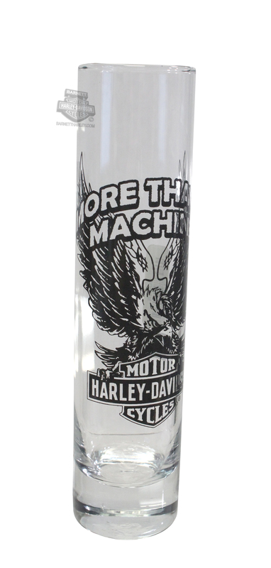 Harley-Davidson® Edge Eagle Jumbo Tall 6.75 oz. Clear Shotglass