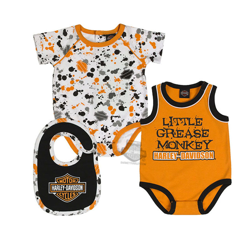 b5cd62e1a8f3 Harley-Davidson Baby Mommy   Me Little Rebel Factory Grey Maternity Set
