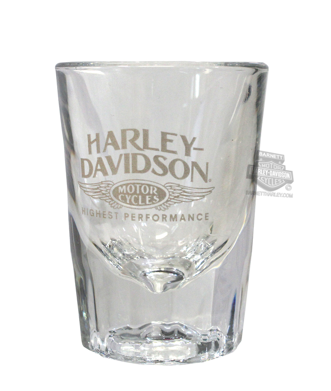 Harley-Davidson® Highest Performance Wings 2 oz. Short Clear Shotglass