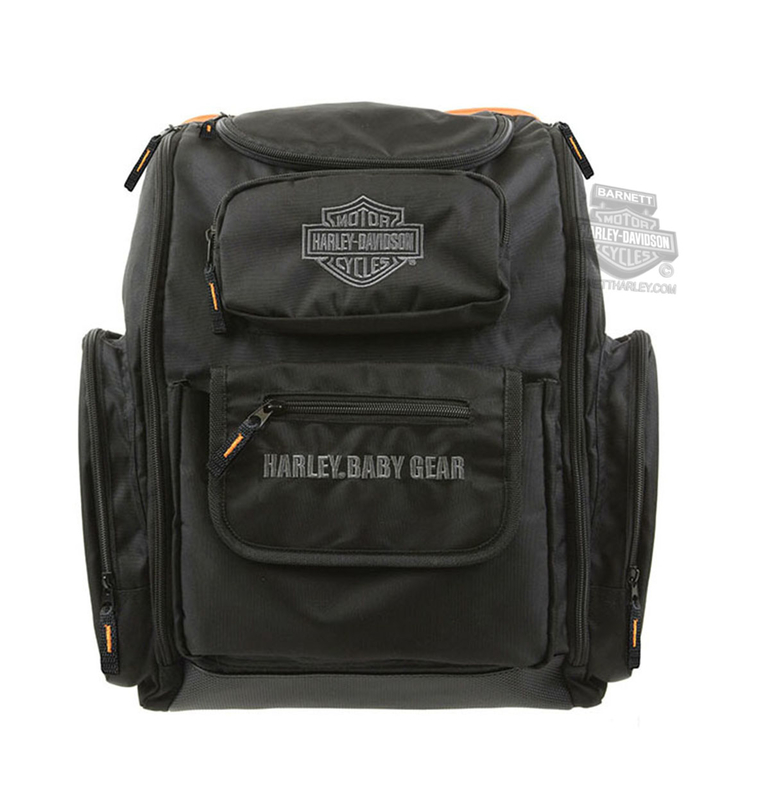 Harley-Davidson® Boys Baby B&S Logo Diaper Bag Black Backpack