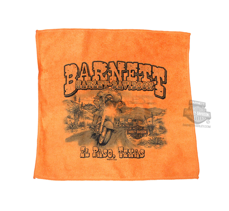 Harley-Davidson® BHD Custom Mexican Bandido Microfiber Orange Shop Towel