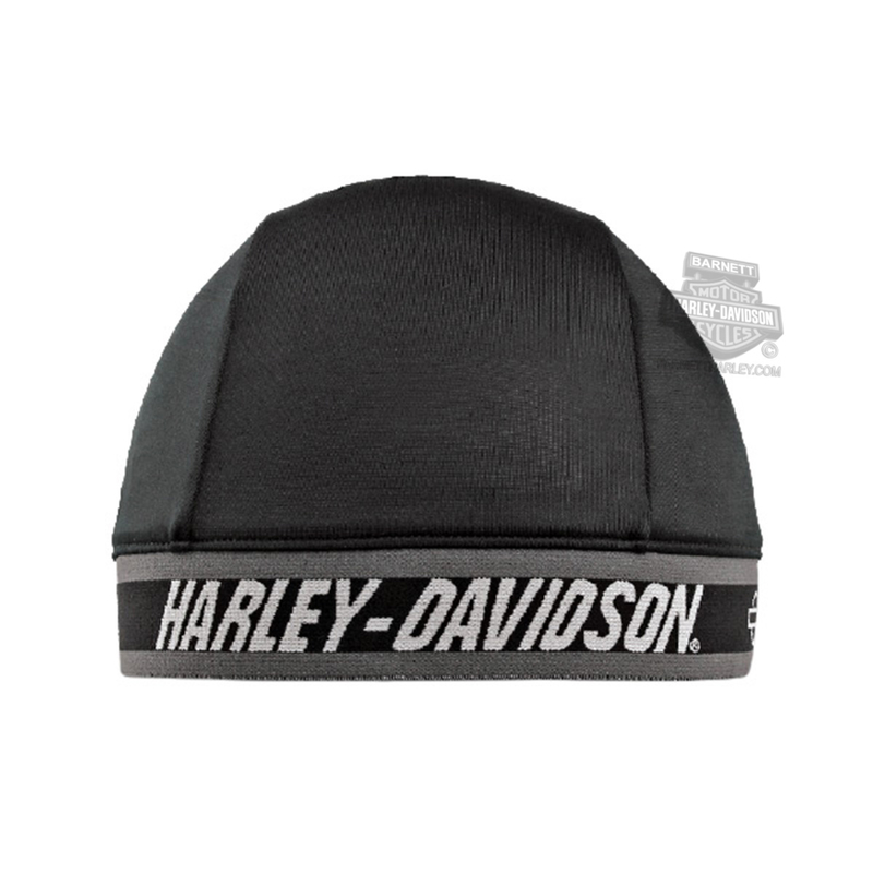 Harley-Davidson® Mens H-D Name Black Poly Blend Skull Cap
