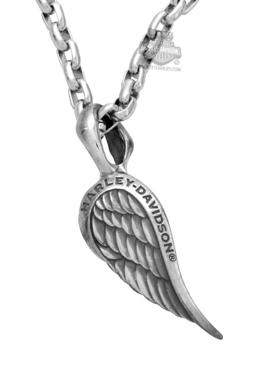 Harley-Davidson® Womens Single Wing Silver Pendant