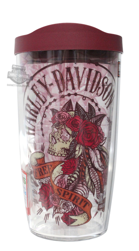 Harley-Davidson® Mens All Over H-D Graphics Wrap 16 oz. Tervis Tumbler 16 oz Cup