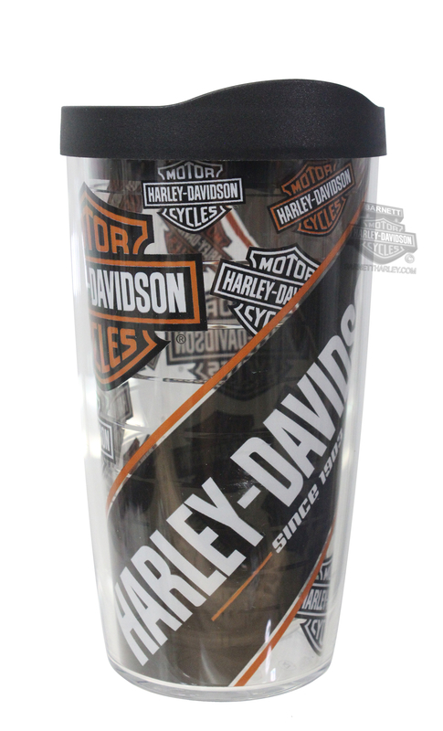 Harley-Davidson® B&S Repeat Pattern Wrap 16 oz. Clear Tervis Tumbler 16 oz Cup