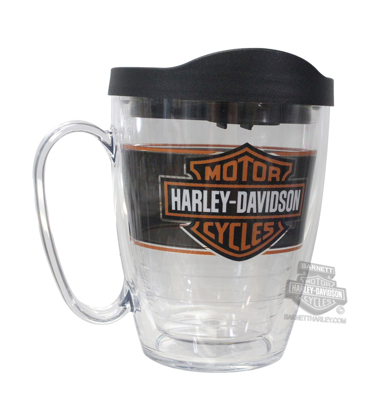 Harley-Davidson® B&S Repeat Pattern Wrap 16 oz. Mug Clear Tervis Tumbler 16 oz Mug