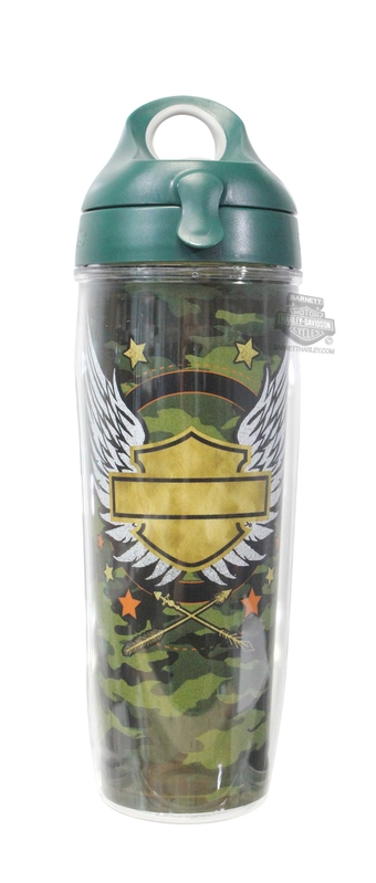 Harley-Davidson® Gold Camo Winged B&S Wrap 24 oz. Water Bottle Tervis Tumbler 24 oz Water Bottle