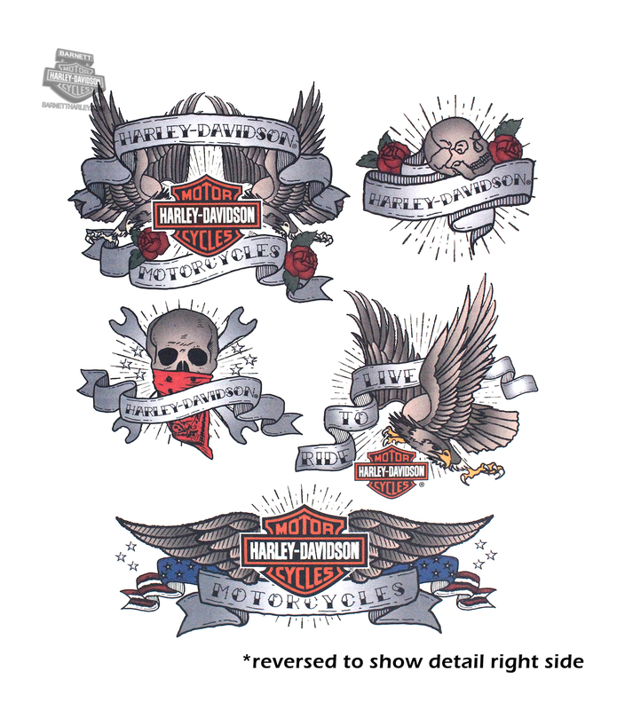 Harley-Davidson® Mens Tattoo Flash Assortment Temporary Tattoos
