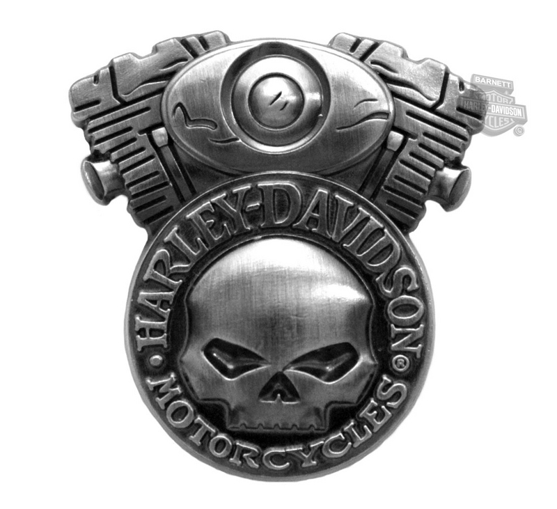 Harley-Davidson® 3D Cast Skull Engine Pin