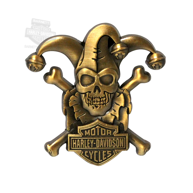 Harley-Davidson® 3D Cast Clown Skull Pin