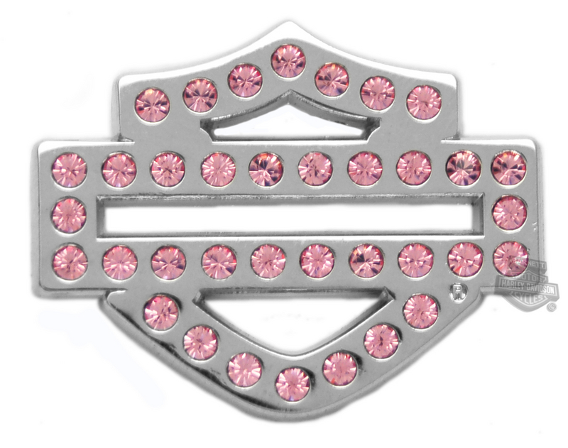 Harley-Davidson® Pink Bar & Shield Bling Logo Pin