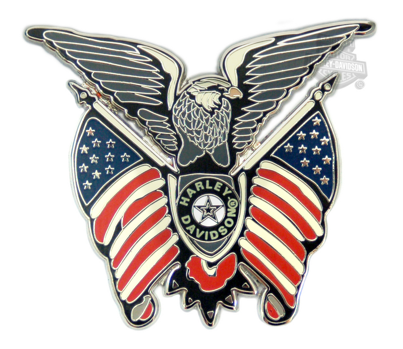 Harley-Davidson® Pin Eagle With Flag