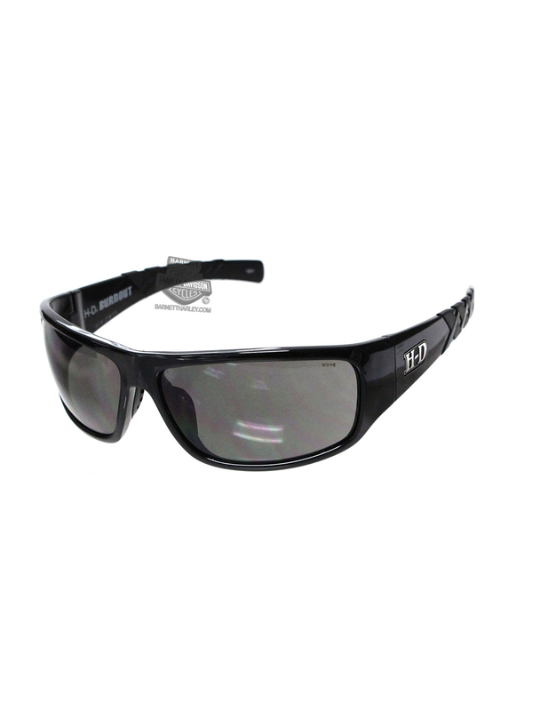 Harley-Davidson® HD Burnout Smoke Grey Lens in a Gloss Black Frame Sunglasses by Wiley X®
