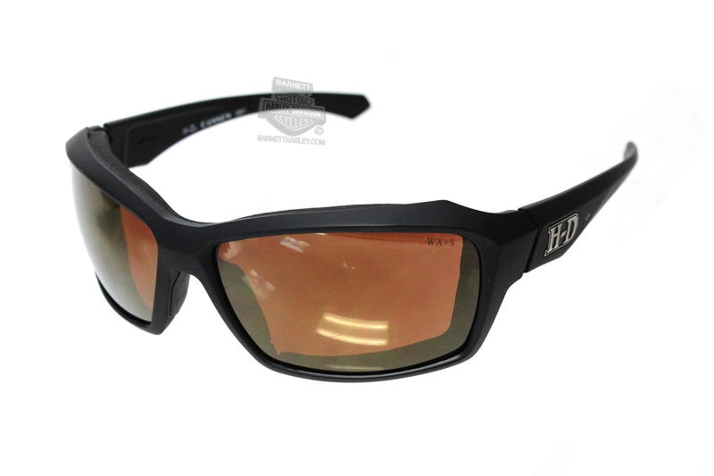 Harley-Davidson® HD Cannon Bronze Flash Lens in a Matte Black Frame Sunglasses by Wiley X®