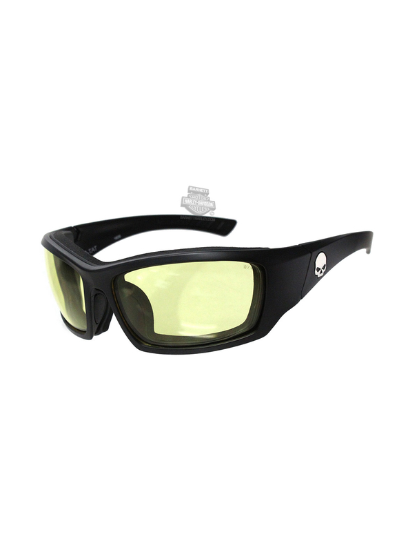 Harley-Davidson® HD Tat Yellow Lens in a Matte Black Sunglasses or Goggle by Wiley X®