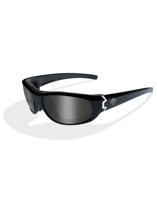 Harley-Davidson® Curve Smoke Grey Lenses in a Gloss Black Frame Sunglasses by Wiley X®