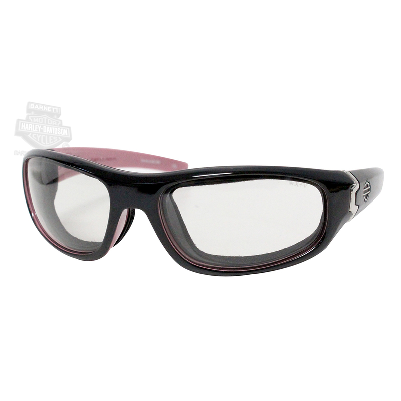 Harley-Davidson® Curve LA Light Adjust Smoke Grey Lenses in a Cotton Candy Frame Sunglasses by Wiley X®