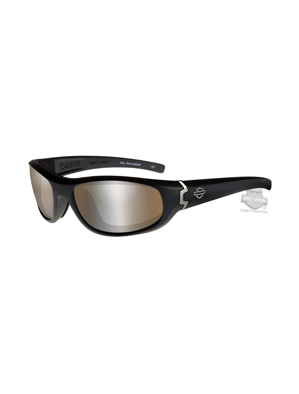 Harley-Davidson® Curve PPZ Silver Flash Copper Lens Sunglasses or Goggle by Wiley X®