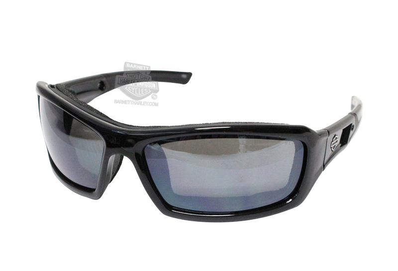 Harley-Davidson® HD Echo Silver Flash (Smoke Grey) Lenses in a Gloss Black Frame Sunglasses by Wiley X®