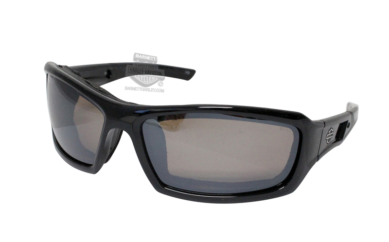 Harley-Davidson® HD Echo PPZ Silver Flash Copper Lens in a Gloss Black Frame Sunglasses by Wiley X®